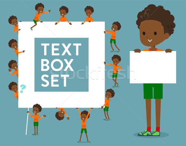 Dauer haj fiú doboz gyerekek Stock fotó © toyotoyo