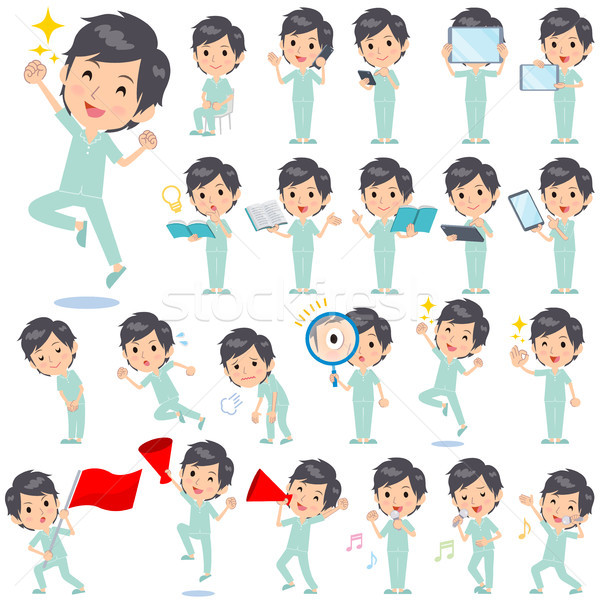 Patiënt man ingesteld internet springen Stockfoto © toyotoyo