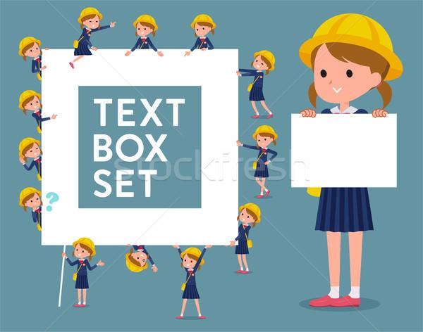 Tip anaokulu kutu bahar kadın çocuk Stok fotoğraf © toyotoyo