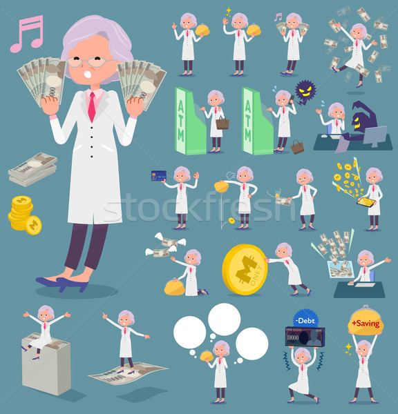 flat type Research Doctor old women_money Stock photo © toyotoyo