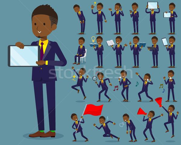Typ kurze Haare Geschäftsmann Internet Männer Flagge Stock foto © toyotoyo