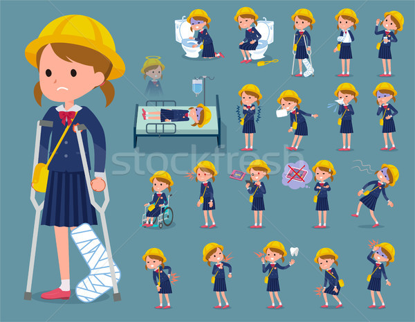flat type Nursery school girl_sickness Stock photo © toyotoyo
