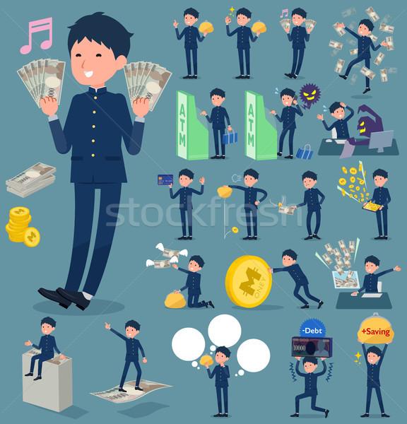 Typu zakupy mężczyzn teen pieniężnych Zdjęcia stock © toyotoyo