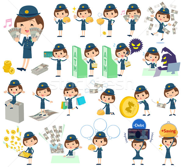 Policía mujer dinero establecer mujeres Foto stock © toyotoyo