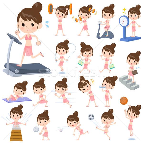 mom Swimwear style_exercise Stock photo © toyotoyo