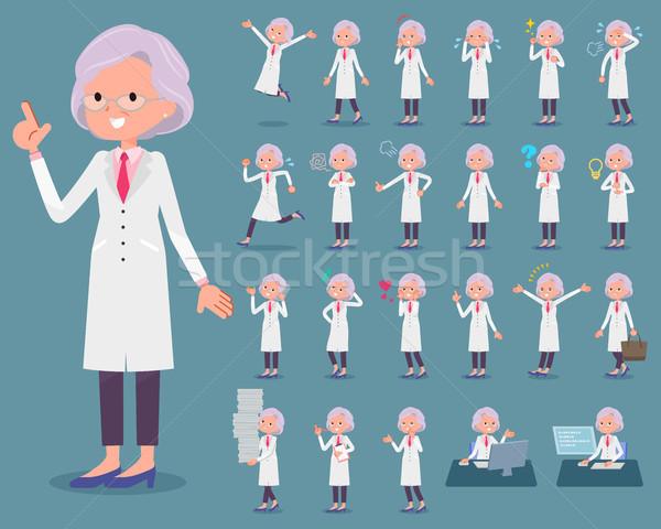 タイプ 研究 医師 古い 女性 を実行して ストックフォト © toyotoyo