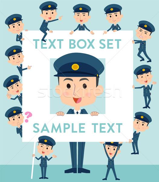 警察 男 文字 ボックス セット ストックフォト © toyotoyo
