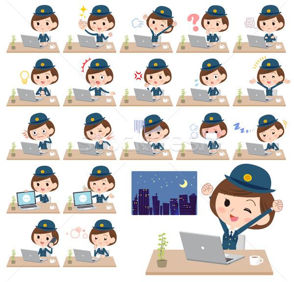 police Women_desk work Stock photo © toyotoyo