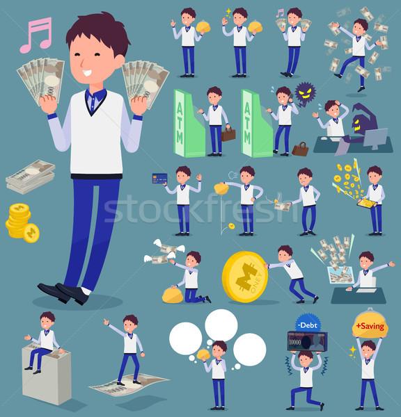 Typu sklepu pracowników niebieski uniform zakupy Zdjęcia stock © toyotoyo