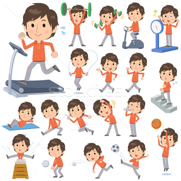 orange wear man Sports & exercise Stock photo © toyotoyo