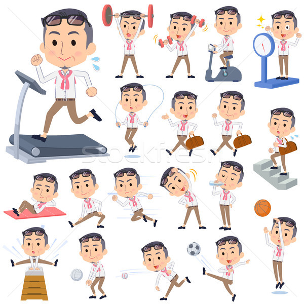 producer middle men_Sports & exercise Stock photo © toyotoyo