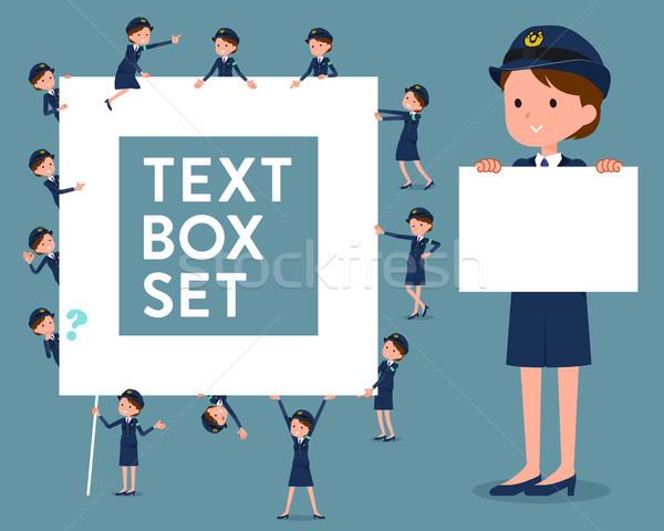flat type police Women_text box Stock photo © toyotoyo