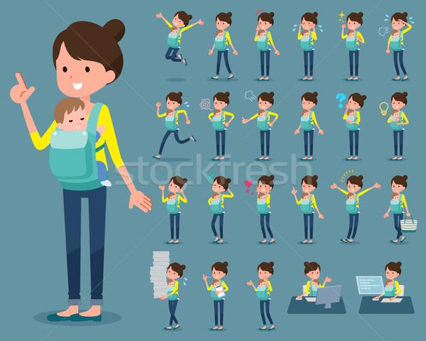 タイプ 母親 赤ちゃん を実行して 悲しい 徒歩 ストックフォト © toyotoyo