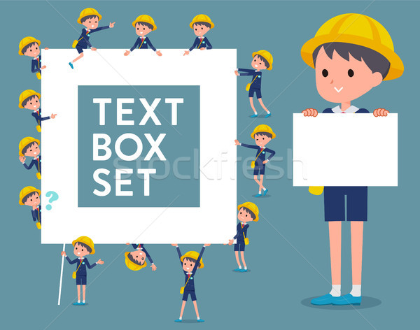 flat type Nursery school boy_text box Stock photo © toyotoyo