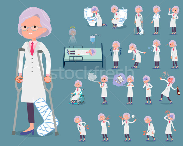 flat type Research Doctor old women_sickness Stock photo © toyotoyo