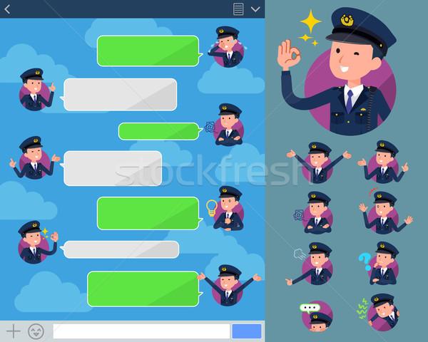 Foto stock: Tipo · polícia · internet · fundo · homens · comunicação