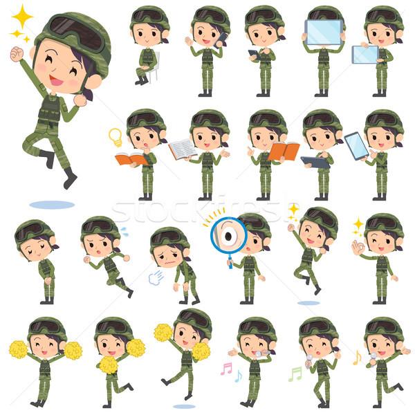 военных носить женщину набор различный книга Сток-фото © toyotoyo
