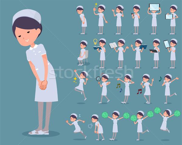flat type Nurse wear woman_2 Stock photo © toyotoyo