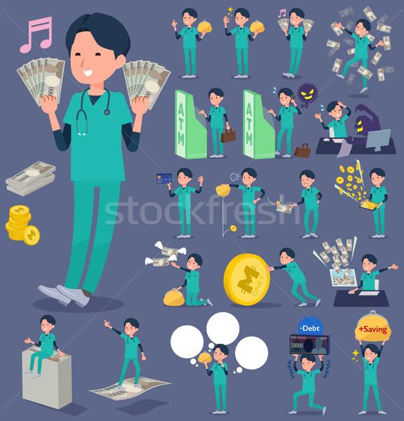 тип хирургический операция зеленый носить врач Сток-фото © toyotoyo