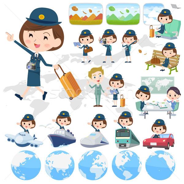警察 女性 世界 夏 列車 袋 ストックフォト © toyotoyo
