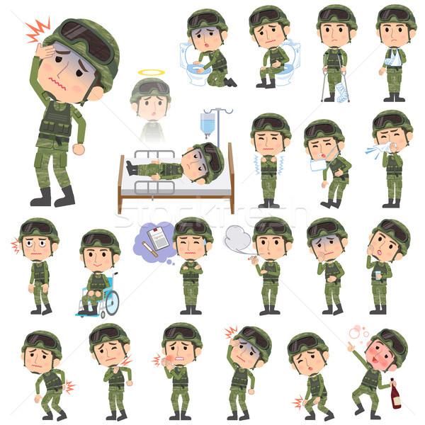military wear man sickness Stock photo © toyotoyo