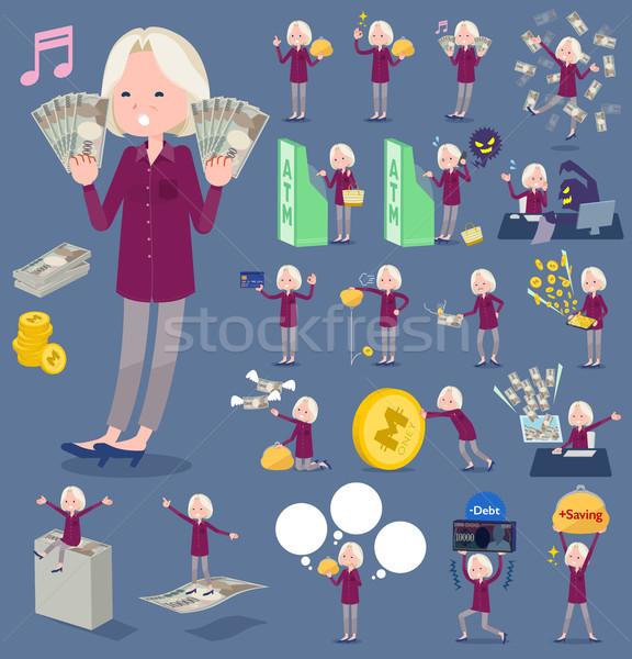 Tipo púrpura camisa edad mujeres compras Foto stock © toyotoyo