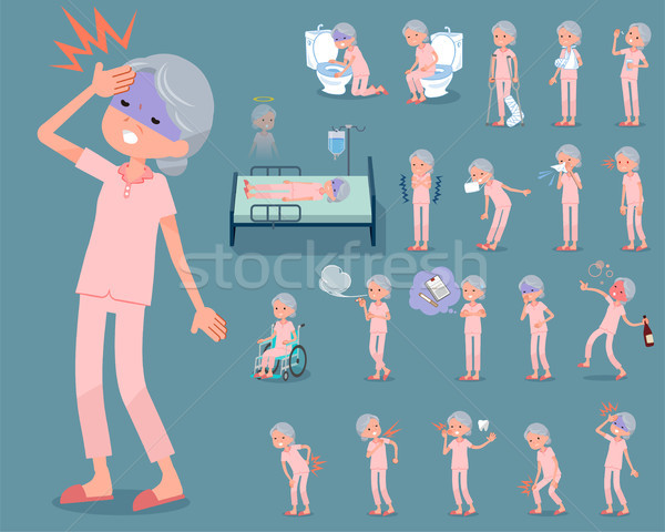 flat type patient grandmother_sickness Stock photo © toyotoyo