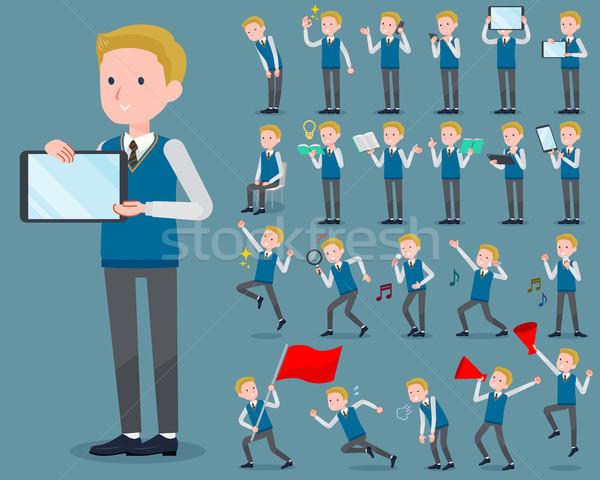 тип школьник интернет студент мужчин флаг Сток-фото © toyotoyo