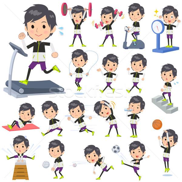 monotone wear man Sports & exercise Stock photo © toyotoyo