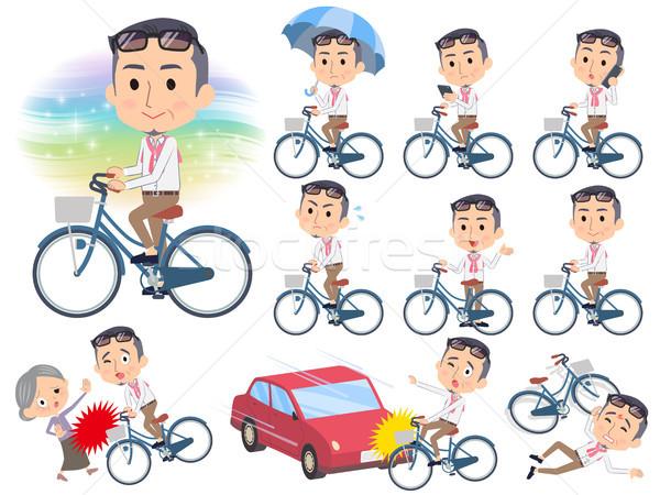 производитель средний велосипед набор различный автомобилей Сток-фото © toyotoyo