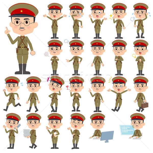 Militari indossare Giappone stile uomo set Foto d'archivio © toyotoyo