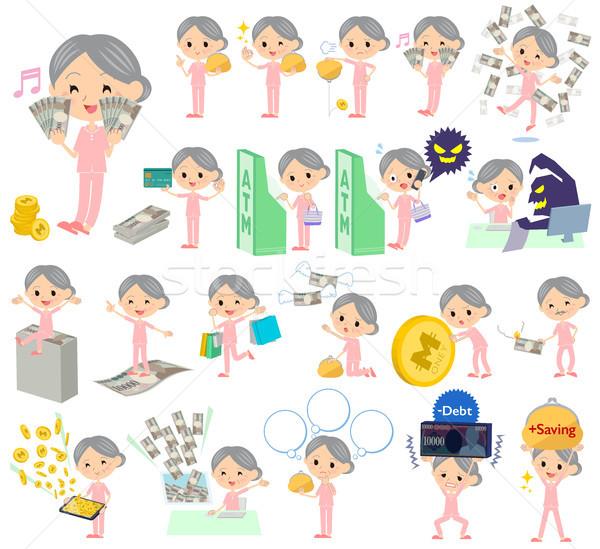 Paciente avó dinheiro conjunto mulher Foto stock © toyotoyo