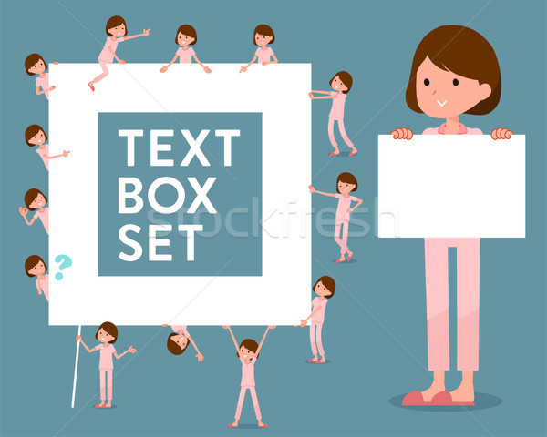 Stock photo: flat type patient woman_text box