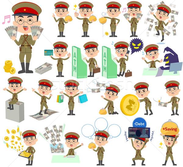 military wear japan style man money Stock photo © toyotoyo