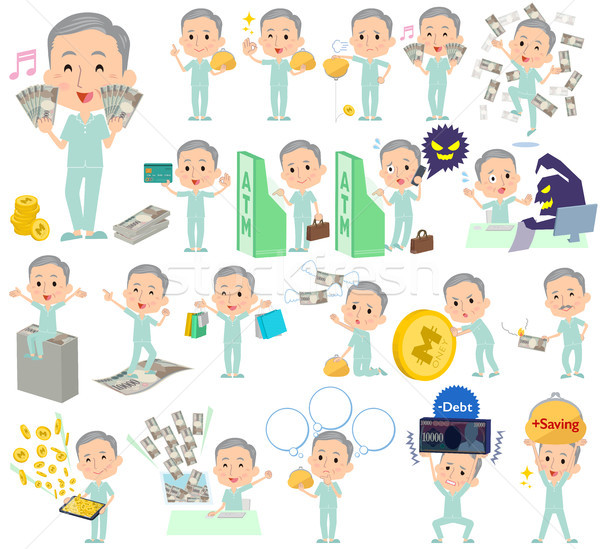 Сток-фото: пациент · деда · деньги · набор · различный · человека