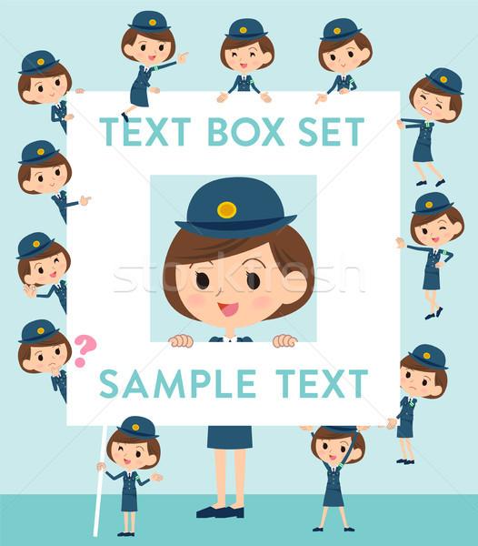 police Woman text box Stock photo © toyotoyo