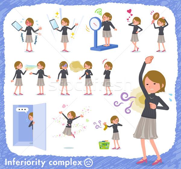 flat type Short hair women_complex Stock photo © toyotoyo