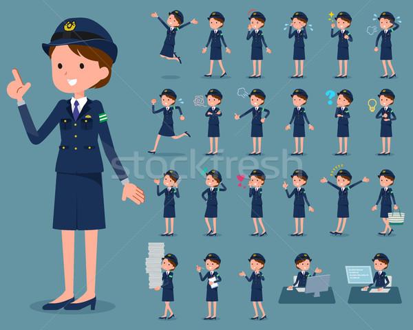 flat type police Women_1 Stock photo © toyotoyo