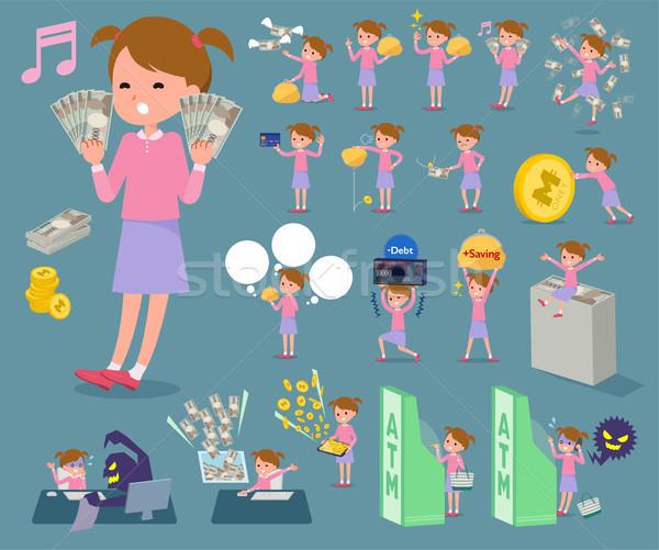 Tipo rosa ropa establecer familia Foto stock © toyotoyo
