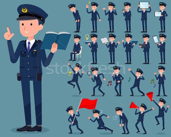 Stock photo: flat type police men_2