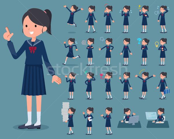 タイプ 船乗り 女性 学生 を実行して ストックフォト © toyotoyo
