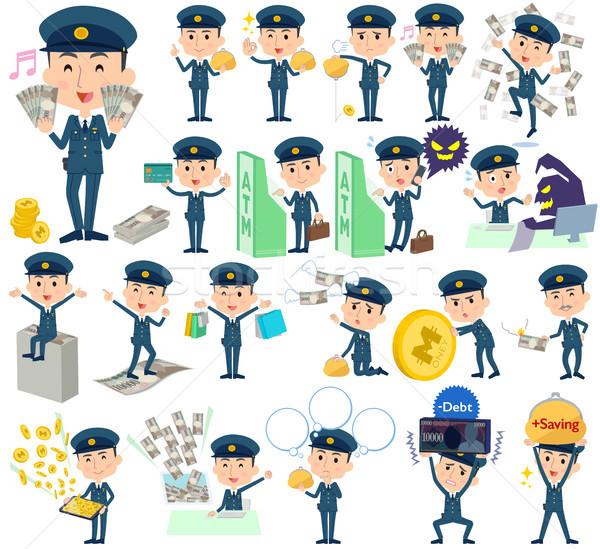 Polícia homem dinheiro conjunto compras Foto stock © toyotoyo
