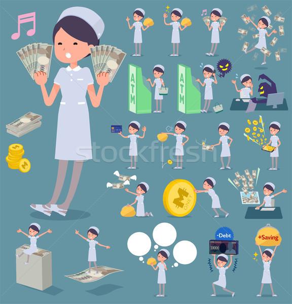 Tip hemşire aşınma ayarlamak para Stok fotoğraf © toyotoyo