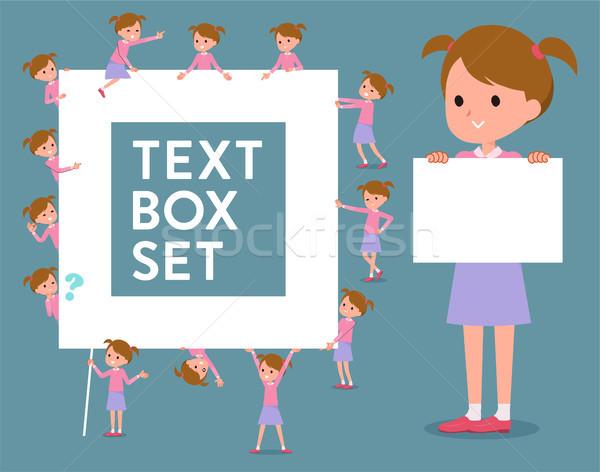 flat type Pink clothing girl_text box Stock photo © toyotoyo