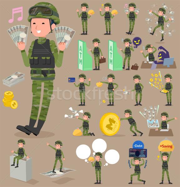 Tipo militar desgaste establecer compras Foto stock © toyotoyo