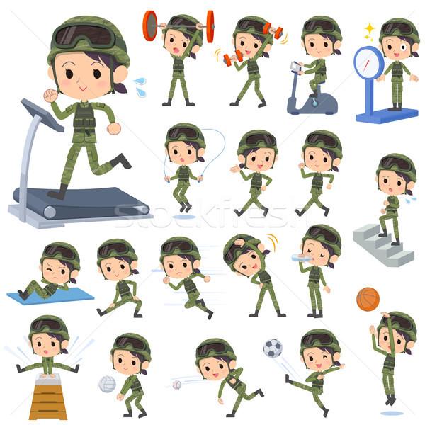 military wear woman Sports & exercise Stock photo © toyotoyo