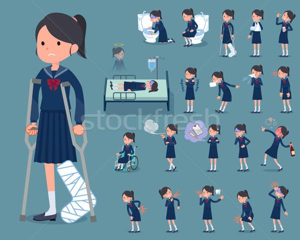 Typu uczennica marynarz kobiet studentów narkotyków Zdjęcia stock © toyotoyo
