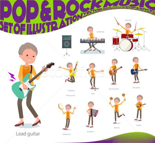 Tipo pelo corto edad música establecer mujeres Foto stock © toyotoyo