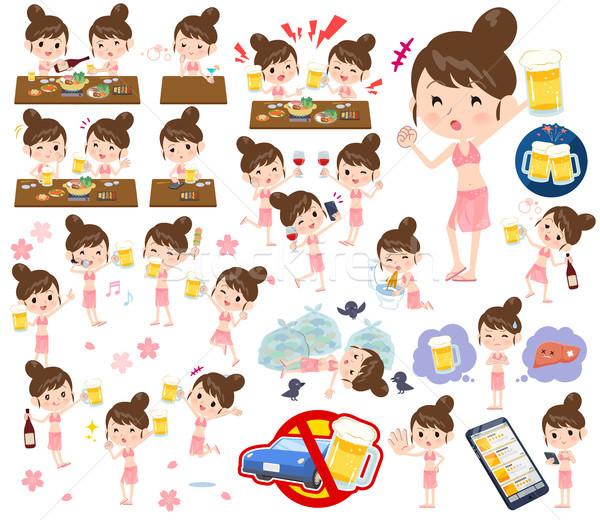 Mamá establecer estilo mujeres animado Foto stock © toyotoyo