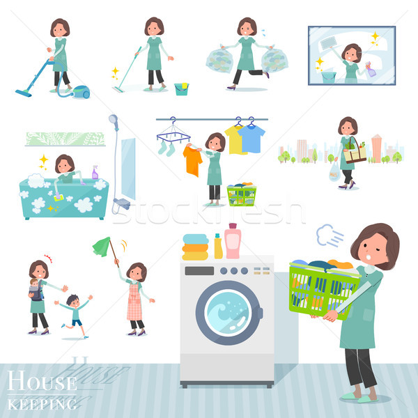 flat type tunic Middle women_housekeeping Stock photo © toyotoyo
